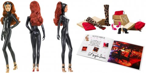 "Barbie panenka Christian Louboutin ""Cat Burglar"""