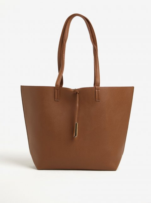 Hnědý shopper Dorothy Perkins