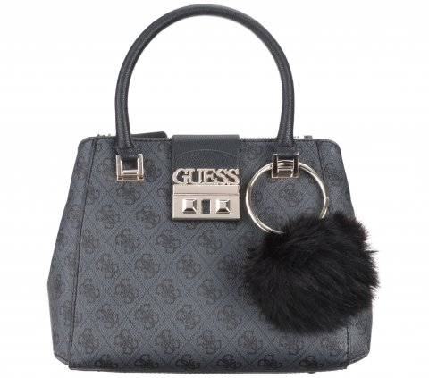 Guess Luxe Logo Small Kabelka Šedá